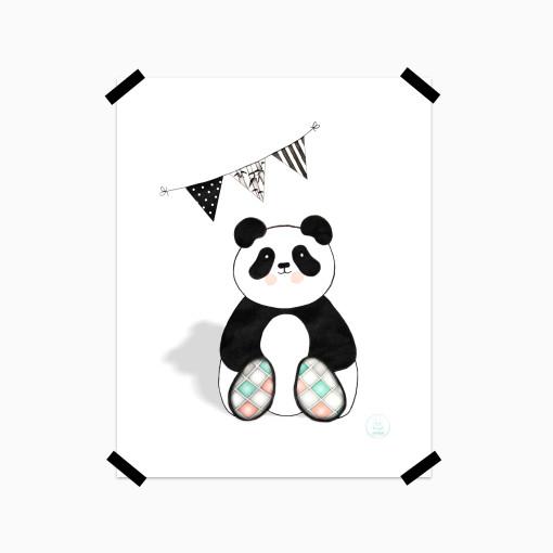 Panda litaðar iljar - tape