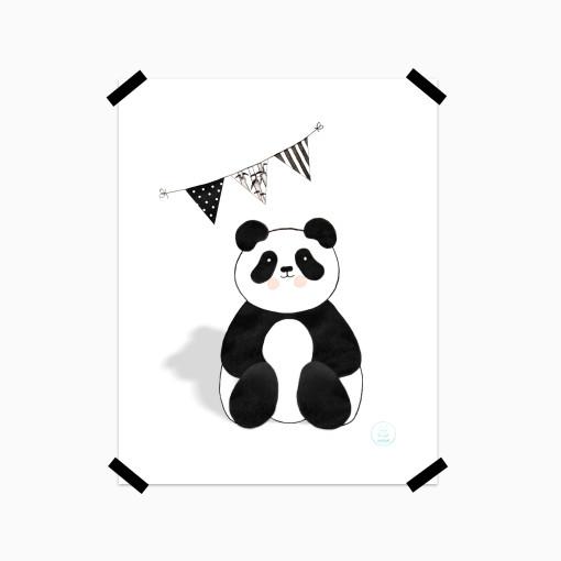 Panda svarthvit - tape
