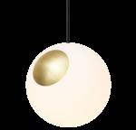 BRIGHT SPOT Hengilampi brass/svört snúra