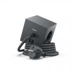 Fjöltengi SQUARE m/USB tengi, svart