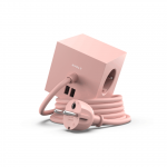 Fjöltengi SQUARE m/USB tengi, bleikt
